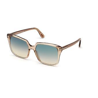 Tom Ford Faye-02 TF788 45P Skinnende LyseBrun / Grønn Gradient Solbriller