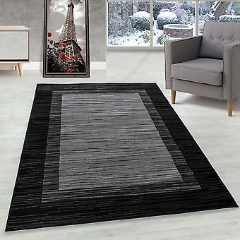 Tapis de salon Tapis à flots tapis modèle moderne Bordüre Flor Doux Noir