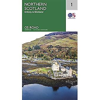 Noord-Schotland. Orkney & Shetland (OS Wegenkaart)