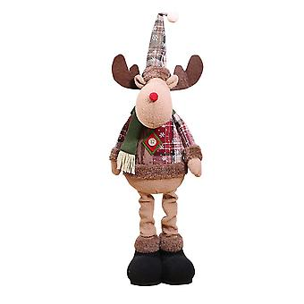 Swotgdoby Christmas Retro Figurines Stretchable Decoration Standing Doll Ornament