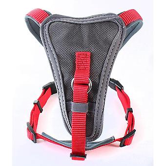 Pet collars harnesses nylon x-over harness red large