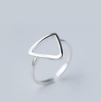 Minimalistisch verstellbarer Silberschmuck geometrische Ringe für Frauen (Syjz002)