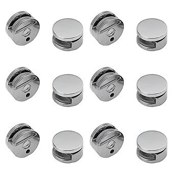 Nail Dresser Zinc Alloy Mirror Clip Supporting Sheet Bathroom Accessories Glass Clamps Round Fixed Fitting Easy Install Bracket