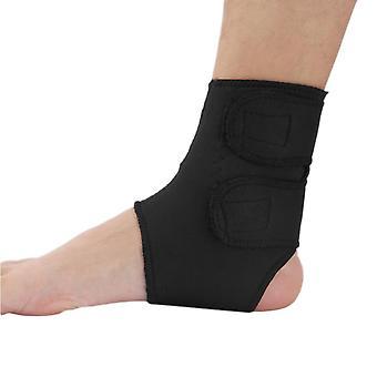 Black Sport Basketball Ankle Foot Elastic Support Wrap Neoprene Adjustable
