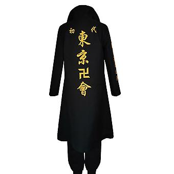 Manjiro Sano Cosplay Kostüm, Unisex Kostüm, Anime Tokyo Manji Gang Mikey, Cape Jacke und Hose, Halloween Party