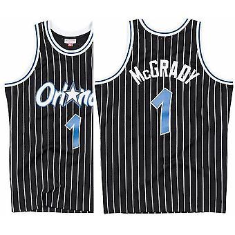 Men's Basketball Jersey Orlando Magic #1 Hardaway #32 O'neal #1 Tracy Mcgrady Pinstripe Swingman Jersey Stitched Sports T-shirt Size S-xxl