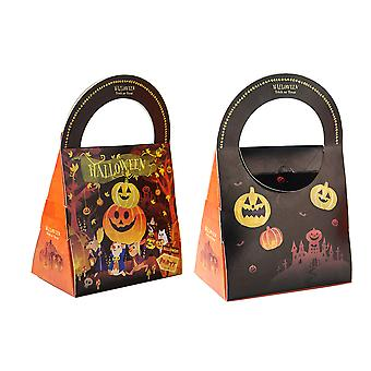 Halloween Paper Party Treat Candy Gift Carrier Boxes X10