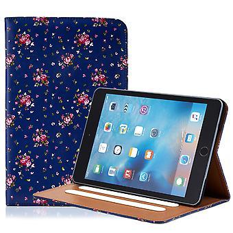 32e bloemdessin folium case voor Apple iPad Mini 1 2 3 - Vintage Rose Indigo
