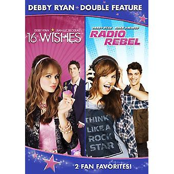 Debby Ryan Double Feature (16 Wishes/Radio Rebel) [DVD] USA import