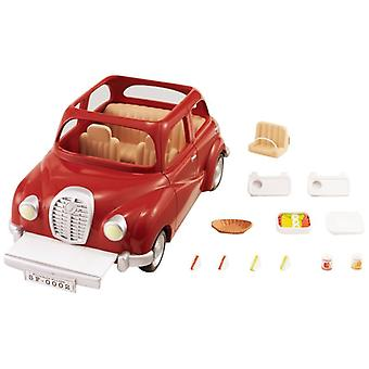 Sylvanian Families Family Saloon retro vehicle Car - Red Kids toy