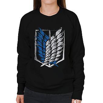 Aanval op Titan vleugels van vrijheid vrouwen Sweatshirt