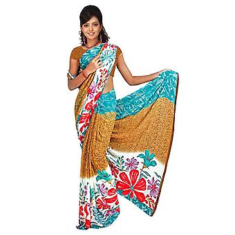 Bhavani Georgette Printed Casual Saree Sari Bellydance fabric
