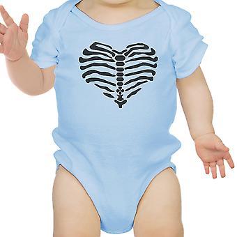 قلب ملامستهما هيكل عظمى طفل لطيف الرسم الأزرق ملامستهما هالوين