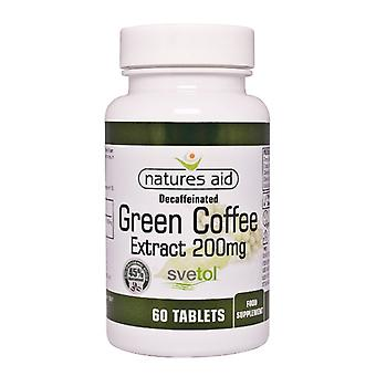 Natures Aid Decaffeinated Green Coffee Extract 200 mg 60 tablets