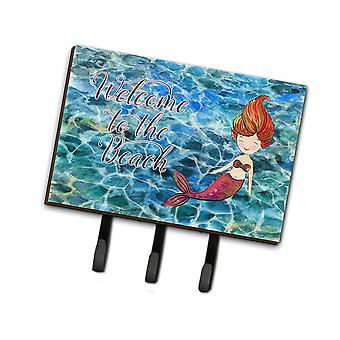 Carolines Schätze BB8521TH68 Meerjungfrau Wasser willkommen Leine oder Schlüsselhalter