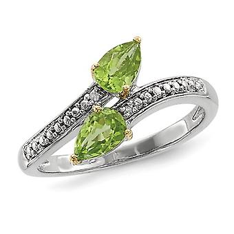 Peridot Ring 9/10 Carats (ctw) in Sterling Silver