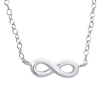 Infinity - 925 Sterling Silver Plain Necklaces - W19121X
