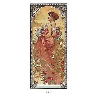 Impressão de Poster ETE 1900 por Alphonse Mucha (9 x 20)