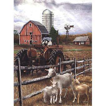 Den gamla traktorn affisch Skriv av Ed Wargo (12 x 16)