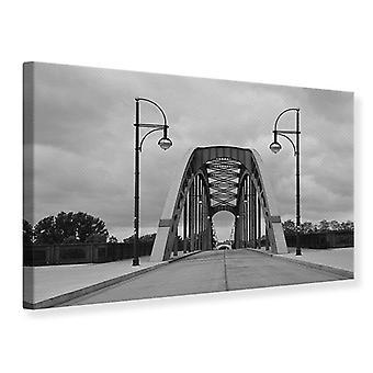 Canvas Print poetische Brücke