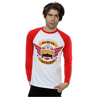 Star Wars Men's Rogue One Red Leader Long Sleeved Baseball Shirt