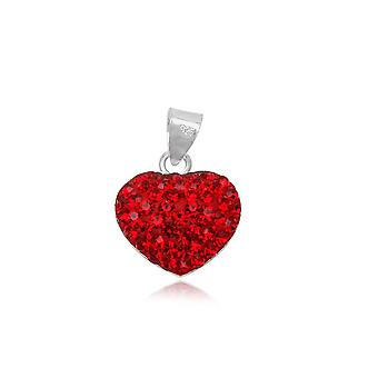 Heart pendant in Red Crystal and Silver 925 1300