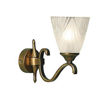 Intérieurs 1900 Columbia laiton Antique lumière simple paroi raccord