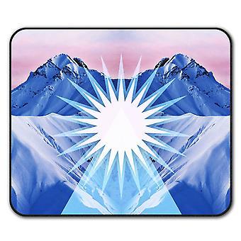 Anti-Rutsch-Mauspad Bergkette Pad 24 x 20 cm | Wellcoda