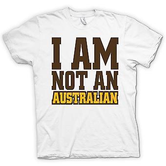 Mens T-shirt - I am not an Australian - Funny