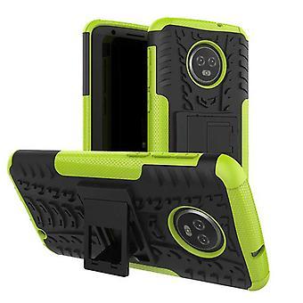 For Motorola Moto G6 plus hybrid sag stykke 2 SWL udendørs grønt posen lomme ærme dække beskyttelse