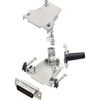 encitech D45ZF15-DBP-K 6355-0046-02 D-SUB PIN Strip set 45 ° antal stift: 15 Lödskopa 1 set
