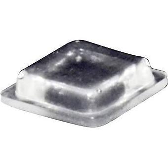 TOOLCRAFT PD2100C Foot self-adhesive, square Transparent (L x W x H) 10 x 10 x 2.5 mm 1 pc(s)