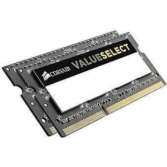 Kit de RAM de l'ordinateur portable de Corsair ValueSelect CMSO16GX3M2A1333C9 16 Go 2 x 8 GB DDR3 RAM 1333 MHz CL9 09/09/24