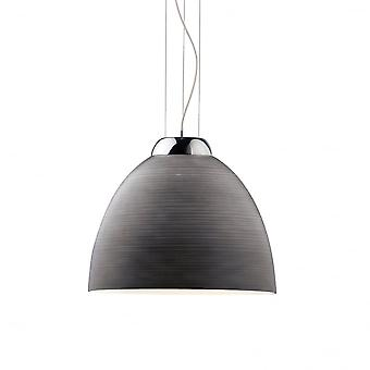 Ideal Lux Tolomeo singolo pendente luce D40 grigio