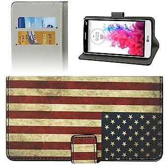 Mobiltelefon täcker fallet för mobiltelefon LG Electronics G3 S motiv retro flagga USA