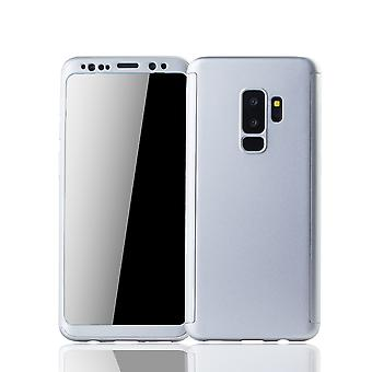 سامسونج غالاكسي S9 بالإضافة إلى شل موبايل شوتزكاسي تغطية كاملة 360 عرض حماية رقائق الفضة
