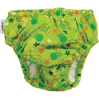 FINIS gjenbrukbare svømme bleie - Turtle Green
