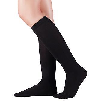 Knitido orteil de genou chaussettes coton et Merino, chaussettes avec orteils pour les hommes et les femmes jusqu'à la taille 46