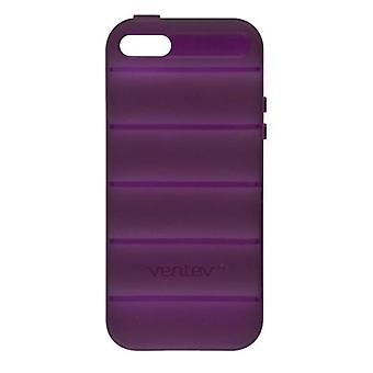 5 Pack -Ventev - SlipGrip Case for Apple iPhone 5/5S Cell Phones - Plum Purple