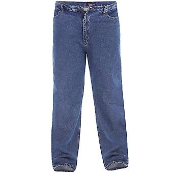 Duke Rockford Mens Big Tall King Size Comfort Stonewash Denim Jeans (Extra Long)