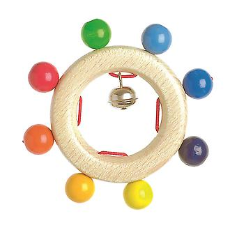 Heimess Touch Ring Rattle Rainbow grânulos