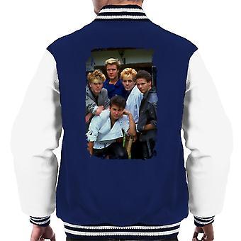 TV kertaa Duran Duran yhtye muotokuva miesten yliopistojoukkue takki