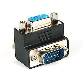 DIGIFLEX VGA SVGA mandlige til kvindelige højre vinkel 90 graders adapter