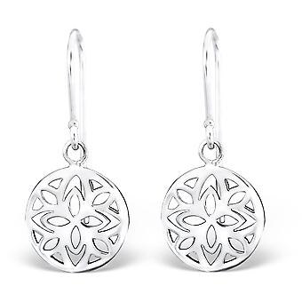 Patterned - 925 Sterling Silver Plain Earrings - W28348x