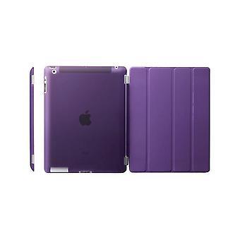 Case/Cover iPad (2017)/iPad Air + shell em plástico duro roxo
