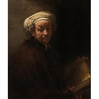 Self-portrait as the,REMBRANDT Harmenszoon van Rijn,60x50cm