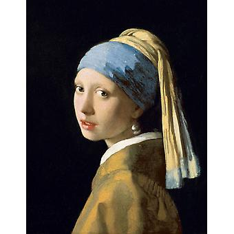 Head of a Young Woman,Jan Vermeer,50x40cm