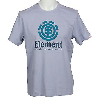 Elementet menn t-skjorte ~ loddrett blå fade