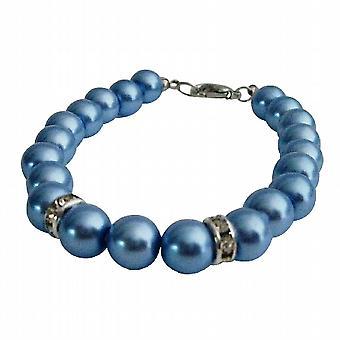 Regalo gioielli collezione perle blu bracciale da Damigella di nozze