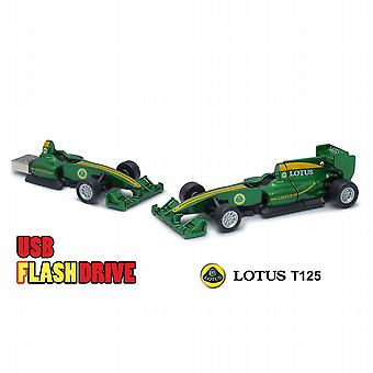 Officiella Lotus T125 F1 Racing bil USB minne sticka 16Gb - Green